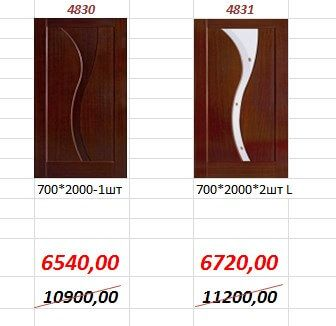 Межкомнатная дверь 4830, 4831.