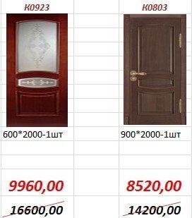 Межкомнатная дверь К0923, К0803.